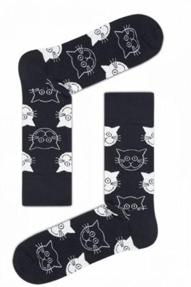 Носки хлопковые с принтом Ekmen CAT SOCK