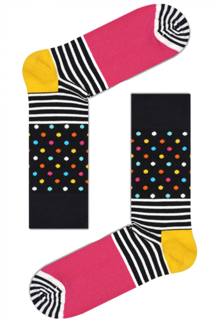 Фото Носки хлопковые с принтом Happy Socks Stripes & Dots