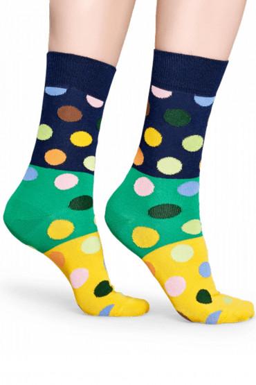Фото Носки хлопковые с принтом Happy Socks BIG DOTS BLOCK