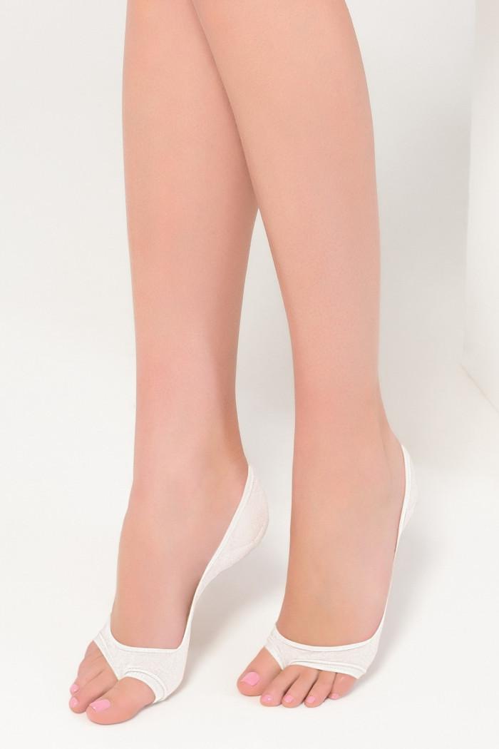 Следы с открытыми пальчиками Legs 720 PEEP TOE COTTON
