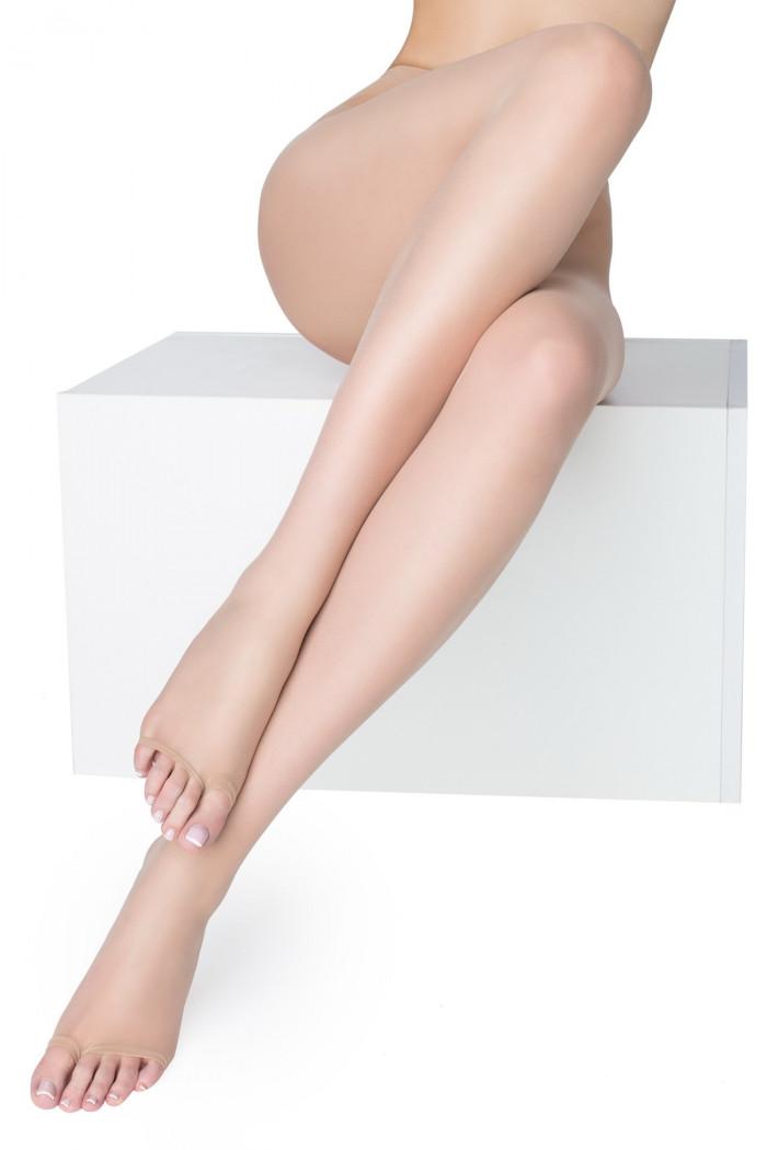 Колготки с открытым носком Marilyn Nudo NF 15 den