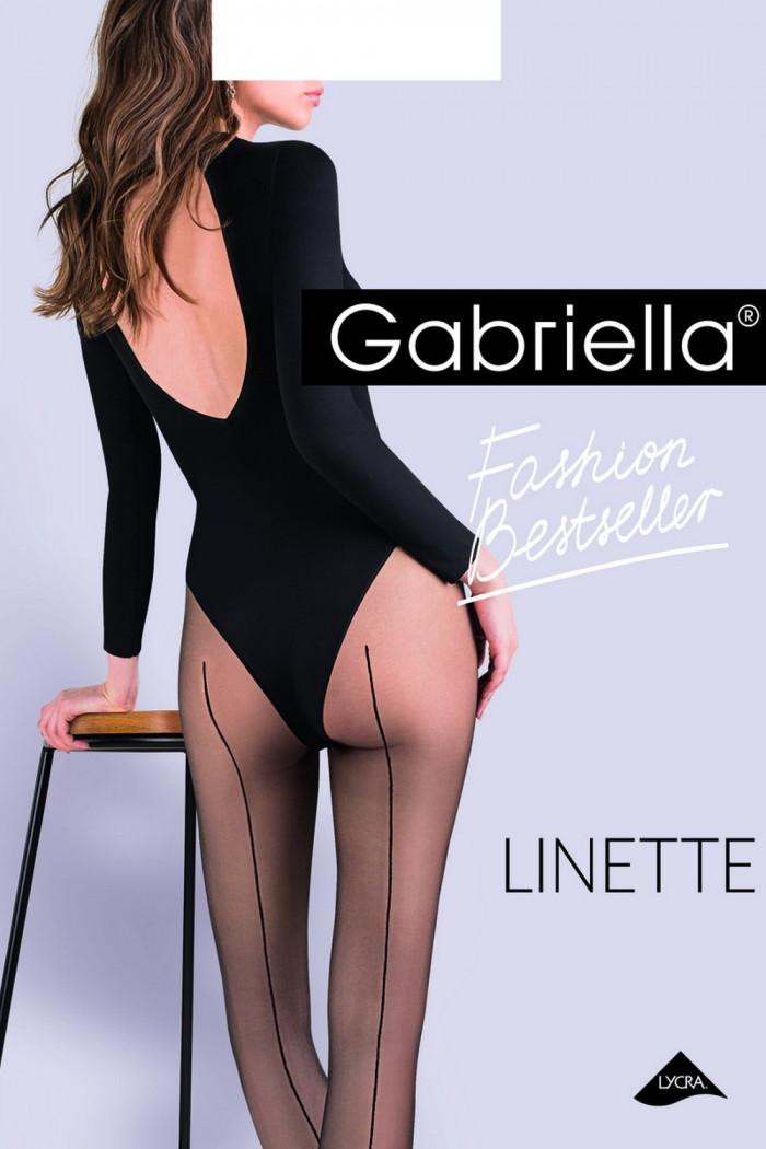 Колготки со швом сзади Gabriella Linette 20 den