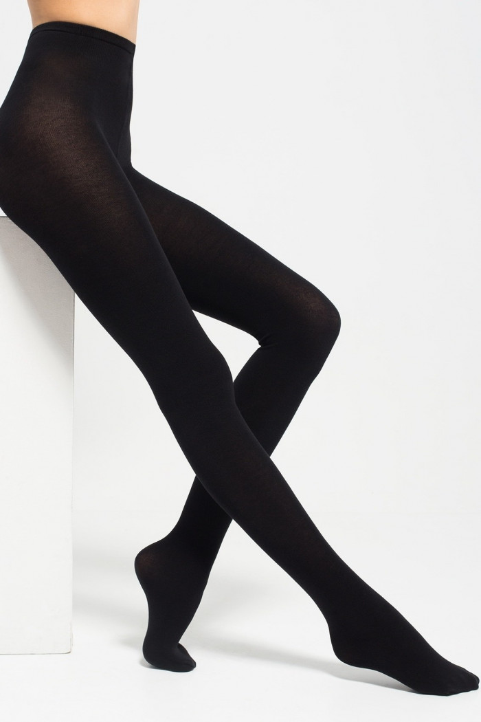 Теплые колготки с шерстью Legs 602 COTTON 110d