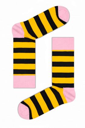 Фото Носки полосатые Happy Socks Yellow Stripe