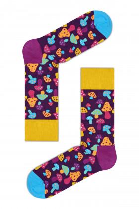 Фото Носки с цветным принтом Happy Socks Shroom Lila Multi