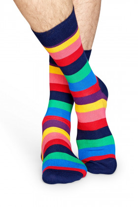 Фото Носки хлопковые в полоску Happy Socks STRIPE SOCK STR01-6001