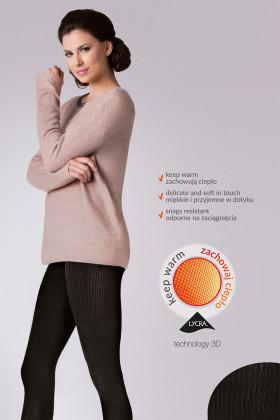 Колготки теплые в рубчик Gabriella Warm up Fashion 200 den