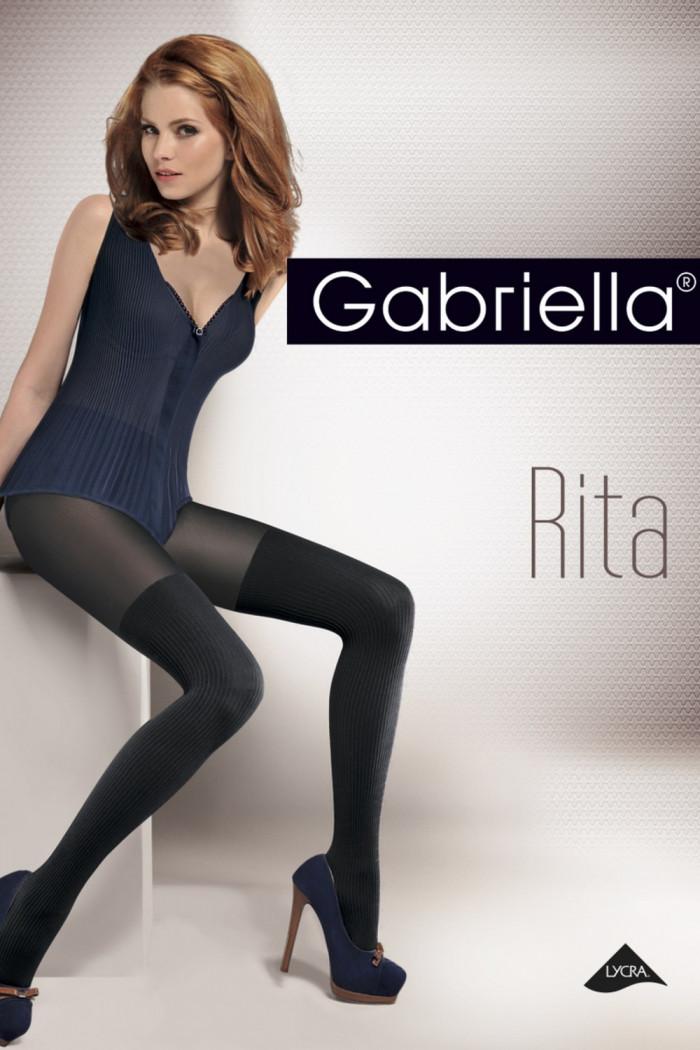 Колготки имитация чулок в полоску Gabriella Rita