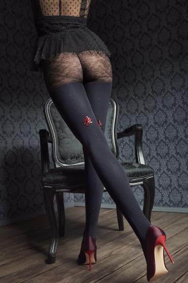 Фото Колготки фантазийные с камнями Marilyn GUCCI G45