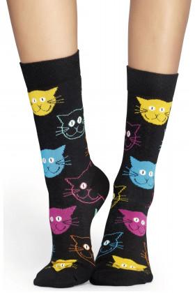 Фото Носки хлопковые с принтом Носки Happy Socks Cat Sock MJ01-099