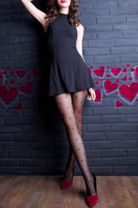 Фото Колготки в сердечки GIULIA Lovers №10 20d