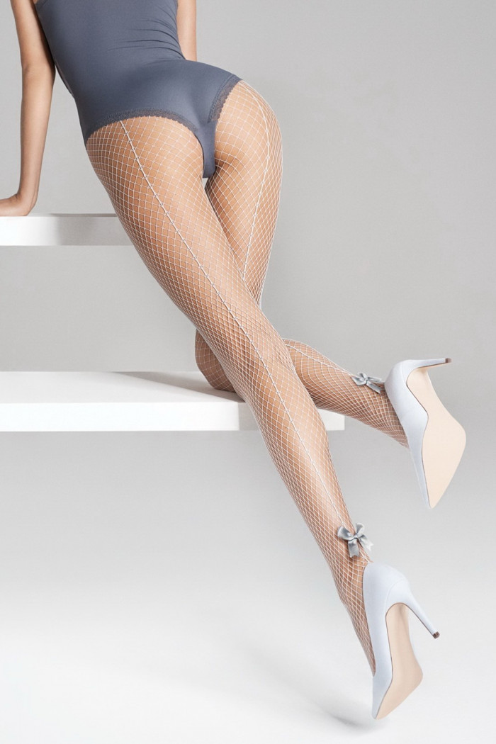Колготки сетка с бантиком Marilyn CHARLY P32