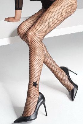 Фото Колготки сетка со звездочкой Marilyn CHARLY P11