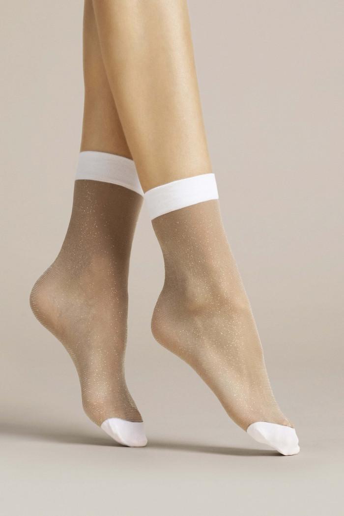 Шкарпетки з люрексом Fiore BIANCO 20d