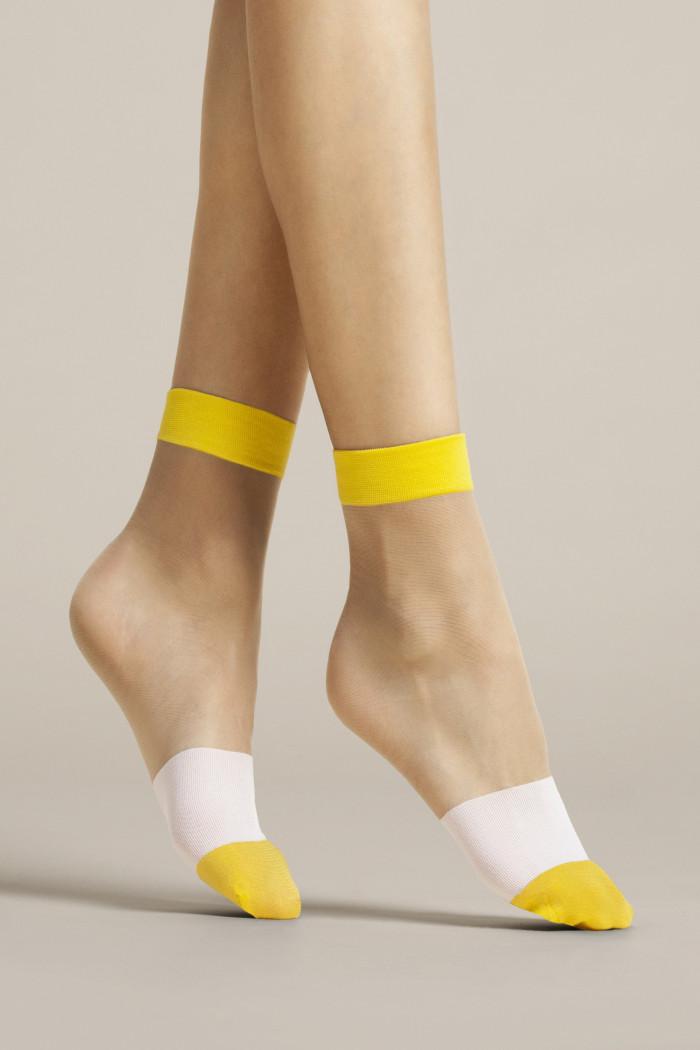 Носочки трехцветные Fiore BICOLORE 15d