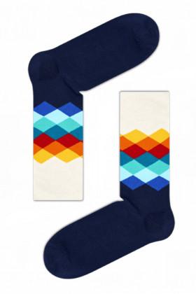 Фото Носки хлопковые с принтом Happy Socks Faded Diamond FD01-105