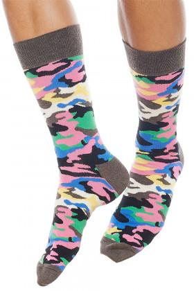 Фото Носки хлопковые с принтом Happy Socks Bark Camo
