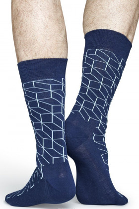 Фото Носки хлопковые с принтом Happy Socks Optic Socks Blue BNWT
