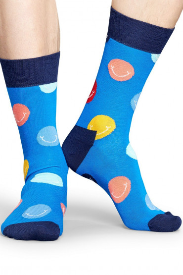 Фото Носки хлопковые с принтом Happy Socks Smile Sock SMI01-6000-433