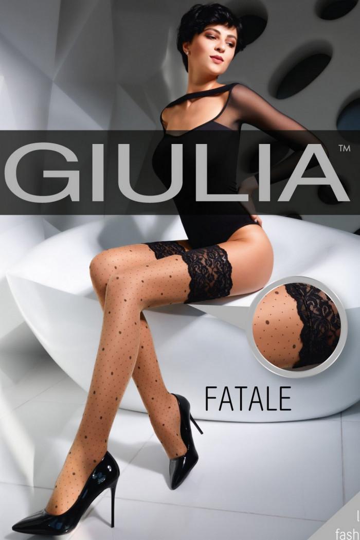 Фото Чулки в мелкий горошек GIULIA Fatale model 02 20d