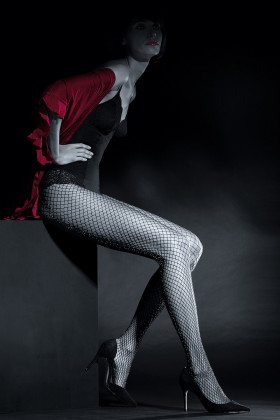 Фото Колготки в сетку с люрексом Knittex Preciosa