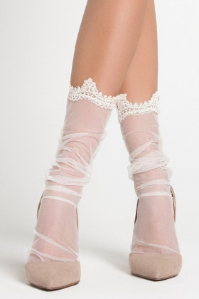 Фото Носки тюль с декором LEGS L1427 TULLE MACRAME