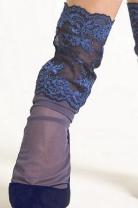 Фото Носки тюль с широким кружевом LEGS L1430 TULLE PIZZO ROSA