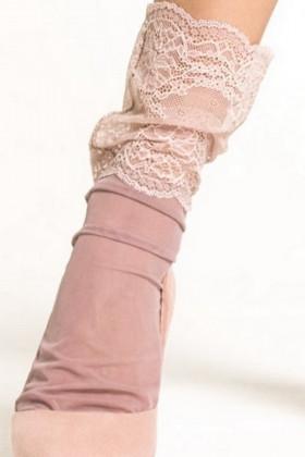 Фото Носки тюль с широким кружевом LEGS L1429 TULLE PIZZO PEONIA