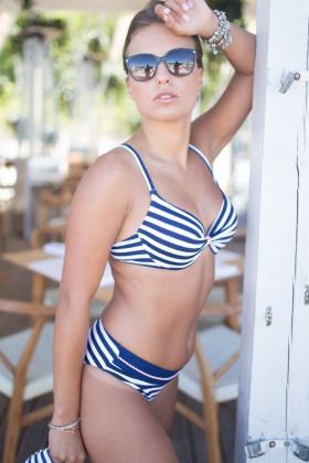 Фото Купальник бикини в полоску Aquamarine AF17161