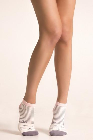 Фото Носки женские с рисунком Legs 63 SOCKS LOW (3 шт)
