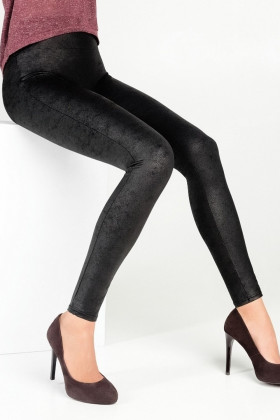 Фото Леггинсы моделирующие Legs L1344 PUSH UP MAT LEATHER