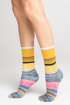 Фото Носки в разноцветную полоску Legs L1434 COTTON PRINT