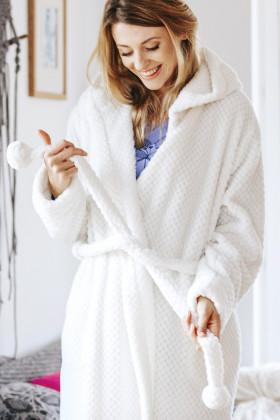 Фото Теплый женский халат Key LGD 104 B19