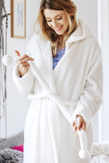 Теплый женский халат Key LGD 104 B19