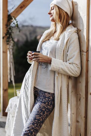 Фото Теплый женский халат с капюшоном Key LGL 747 B19