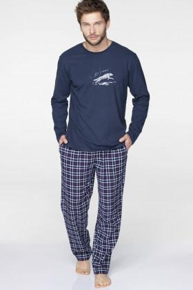 Фото Мужская пижама с клетчатыми штанами Key MNS 045 B19