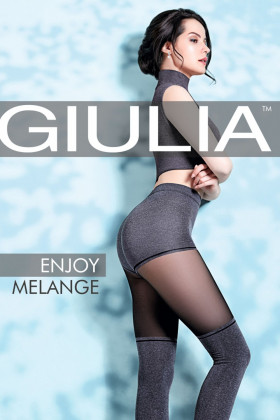 Фото Колготки с имитацией чулок Giulia Enjoy melange 60 №1