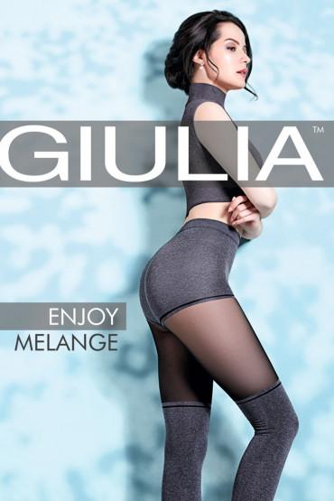 Колготки с имитацией чулок Giulia Enjoy melange 60 №1