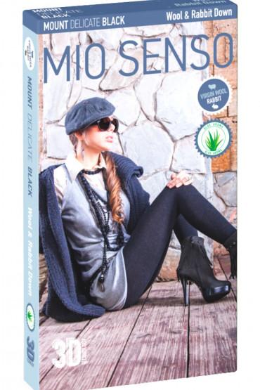Колготки теплые с шерстью и пухом Mio Senso Mount Delicate Black (пакет)