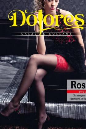 Фото Чулки с широким красным кружевом Dolores Rossana 20 den