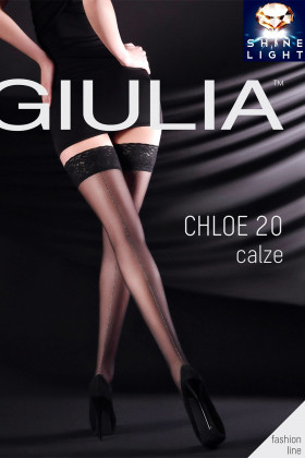 Чулки c блестящей стрелкой GIULIA Chloe 20