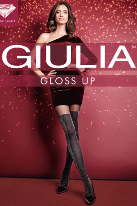 Колготки имитация чулок с люрексом Giulia Gloss Up 60 №2