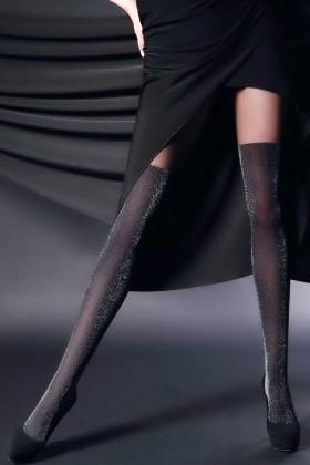 Фото Колготки имитация чулок с люрексом Giulia Gloss Up 60 №2