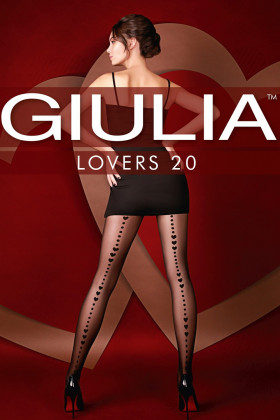 Фото Колготки со стрелкой из сердечек GIULIA Lovers 20 № 13