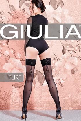Фото Чулки в горошек GIULIA Flirt 20 model 2