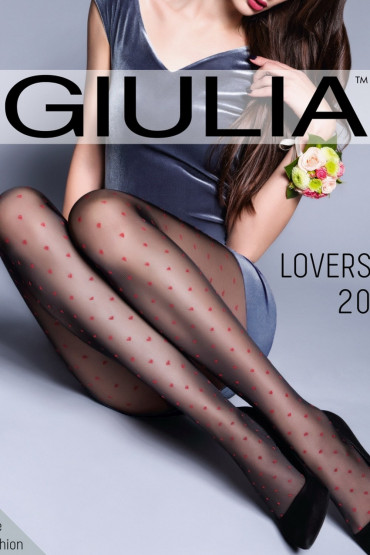 Фото Колготки с красными сердечками GIULIA Lovers 20 model 4