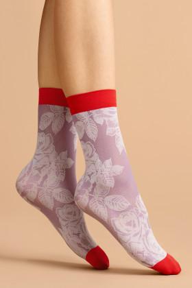 Носочки с принтом Fiore RED ROSE 40d