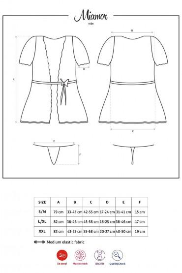 Фото Халатик с кружевными трусиками Obsessive Miamor robe