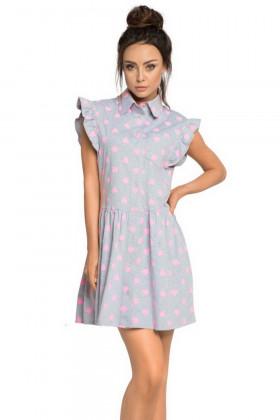 Платье домашнее хлопковое Pigeon P-650