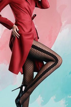 Фото Колготки с имитацией крупной сетки Giulia ARIANA STRIPE 01
